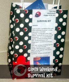 Domesblissity: Girl's Weekend Survival Kit