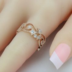 Gorgeous Rose Gold Plated Flower ring