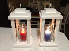 Scrapwood Lanterns | Do It Yourself Home Projects! Find more great DIY projects here http://www.handymantips.org/category/diy-projects/