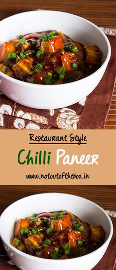 restaurant style Try this Indo-Chinese reastaurant style Chilli Paneer recipe at home with simple ingredients. Chilli Recipes, Veg Recipes, Indian Food Recipes, Asian Recipes, Vegetarian Recipes, Chicken Recipes, Cooking Recipes, Chinese Food Vegetarian, Recipies