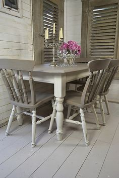 refinish the dinner table