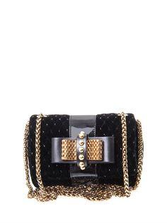 Christian Louboutin Sweet Charity Velvet Bag in Gold (black) | Lyst