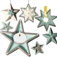 Stern-Deko aus Beton selber gießen, z.B. als Weihnachtsdeko, Anhänger, Teelichthalter