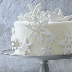 I made this for my sister-in-law for Christmas - not that hard!How to make fondant snowflakes (video)
