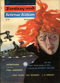 scificovers:  The Magazine of Fantasy and Science Fiction March 1956. Cover by Nicholas Solovioff.