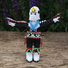 EAGLE DANCER BY TODD PONCHO ZUNI BEADWORK