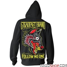 Steadfast Brand, Follow No One Hoodie by Jason Kelly and Palehorse Design