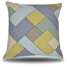 """The """"Jeppe Geometric"""" Pillow  Lively geometrics with subtle colors can add interest without to much color"""