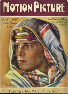 Motion Picture Magazine - September 1926 - Rudolph Valentino .