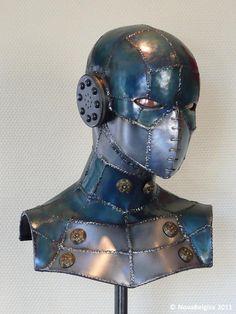 Science Fiction Metal Sculpture by Tim Roosen