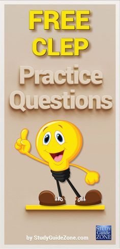 Get free CLEP practice questions and study tips to help you prep for the CLEP test. #cleptest #clepprep