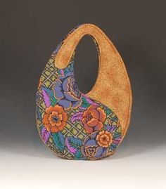 Scrap-bags Sewing Patterns for Bags, Purses, Crafts and Quilts: Yin-Yang Scrap-bag features Kaffe Fasset  Native Arts by Robert Kaufman