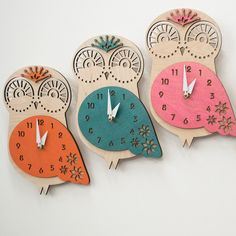 "The ""Baby Owl"" designer wall mounted clock from LeLuni by LeLuni on Etsy https://www.etsy.com/listing/164136900/the-baby-owl-designer-wall-mounted-clock"