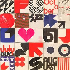 Program Guides for @sfmoma from 1964-72 by Barbara Stauffacher Solomon.