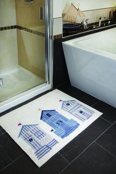 Tapis de salle de bain ultra-absorbant à motifs 65x85 cm
