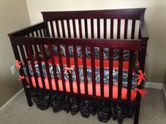 Hey, I found this really awesome Etsy listing at https://www.etsy.com/listing/223955207/custom-camo-timber-tree-crib-set-with