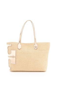 5029b3144bae Tory Burch Stacked T Metallic Tote Cute Handbags