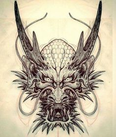 Dragon Tattoo is one of the most popular mystical tattoos. - Dragon Tattoo is one of the most popular mystical tattoos. Like most other mythological tattoos, dr - Wolf Tattoos, Head Tattoos, Body Art Tattoos, Sleeve Tattoos, Cross Tattoos, Tribal Tattoos, Dragon Japanese Tattoo, Japanese Dragon Tattoos, Chinese Tattoos