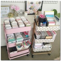 baby room ideas 353321533255990967 - astuces-rangement-organisation-espace-desserte-raskog-ikea Source by coraliedess Raskog Ikea, Craft Room Storage, Craft Organization, Craft Rooms, Craft Space, Bedroom Storage, Bedroom Organisation, Craft Room Tables, Stationary Organization