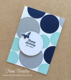Happy Birthday To You - Stitched Shapes - Stampin' Up! - Fiona Bradley