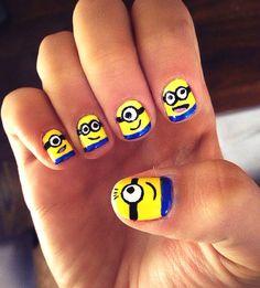 Minion nails :) #despicableme #minions