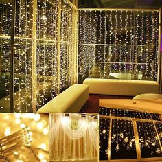 AGM LED Curtain String Light 3.5M Droop 0.3-0.5m 300Leds 220V Icicle Fairy Lamp For Christmas Xmas Wedding Garden Decoration #Affiliate