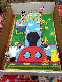 Mickey Mouse Clubhouse Birthday Party Decoration Ideas Beautiful Mickey Mouse Clubhouse Gia S Birthday Cake Mickey 1st Birthdays, Mickey Mouse First Birthday, Mickey Mouse Clubhouse Birthday Party, Mickey Mouse Parties, Mickey Party, Baby 1st Birthday, Birthday Ideas, Mickey Mouse Birthday Party Ideas, Mickey Mouse Pinata