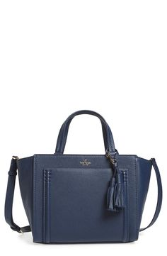 Absolutely adoring this classic Kate Spade satchel in a rich navy color.