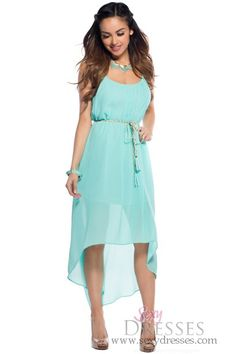 Gorgeous Designer Turquoise Halter Chiffon A-line Long Bridesmaid ...