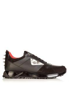 7171e658b52 FENDI Bag Bugs leather trainers €750 Baskets En Cuir Noir