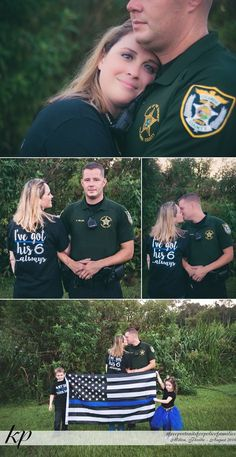 Free Portraits for Police Families 2016 Police Engagement Photos, Engagement Couple, Engagement Pictures, Police Wedding Photos, Cop Wedding, Engagement Ideas, Dream Wedding, Police Wife Life, Police Family