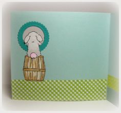 Bunny & Ducky Mini Set. (sku#4404) Art Impressions Mini Front & Backs Easter card.