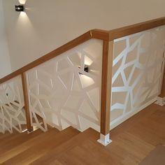 modern stair raili… modern stair railing ideas iron safety grill design for staircase Modern Stair Railing, Stair Railing Design, Staircase Railings, Wooden Staircases, Modern Stairs, Railing Ideas, Glass Stair Railing, Staircase Design Modern, Stairways