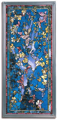 John LaFarge Stained Glass   John La Farge Butterflies and Foliage