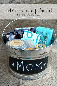 Give Mom a simple but fabulous Mother's Day gift basket filled with some of her favorite things!