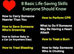 8 Basic Life-Saving Skills Everyone Should Know