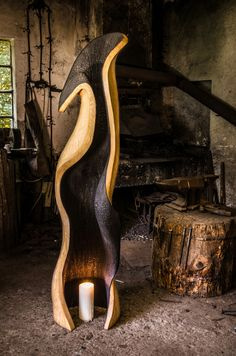 Dřevěná socha / Wooden sculpture