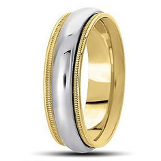 Jewelry Point - Traditional Wedding Band Polished Ring 14k 2 Tone Gold, $315.00 (https://www.jewelrypoint.com/traditional-wedding-band-polished-ring-14k-2-tone-gold/)