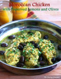 Moroccan chicken recipe preserved lemons olives djej makalli