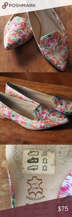 Anthropologie Floral shoes 7M Beautiful shoes from Anthropologie size 7M. Very lightly worn. Anthropologie Shoes Flats & Loafers
