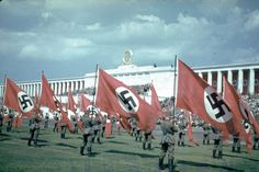 Nuremberg, 1937 | A Brutal Pageantry: The Third Reich's Myth-Making Machinery, in Color | LIFE.com Ww2 History, World History, Military History, World War Ii, Nuremberg Rally, Nuremberg Germany, Germany Ww2, Luftwaffe, Famous Architecture