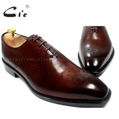 938bc4b7e cie Square Toe Bespoke Custom Handmade Genuine Calf Leather Outsole  Breathable Men's Oxfords Shoe Brown OX183 Mackayc/Blake raft
