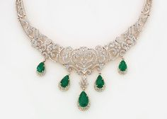 emeralds necklace designs - Google Search