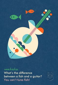What's the difference between a fish and a guitar? #WeeHeeHee #KidJokes