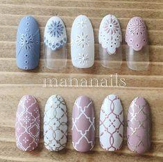 Likes, 15 Comments - mananails Mauve Nails, Japanese Nail Art, Manicure Y Pedicure, Nail Patterns, Pretty Nail Art, Stylish Nails, Cool Nail Designs, Nail Tutorials, Nail Stamping