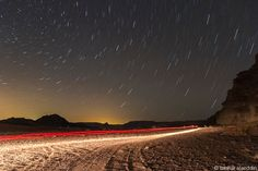 Spectacular Star Trails Dazzle Over Jordan Desert