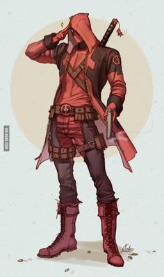 /Deadpool (Wade Wilson)/ - Zerochan, he looks like a bounty hunter in Star Wars, or an assassin from ass creed, I love it! Marvel Comics, Ms Marvel, Marvel Art, Dead Pool, Deadpool Et Spiderman, Deadpool Fan Art, Deadpool Hoodie, Deadpool Pics, Deadpool Wallpaper