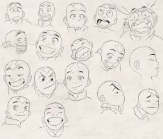 Aang's Expressions study by 7neondragon