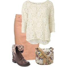 A fashion look from November 2013 featuring VILA tops and Charlotte Russe ankle booties. Browse and shop related looks.