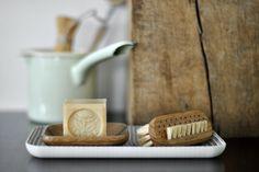 savon de marseille with nail brush